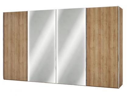 Nolte Columbus Schwebetüren-Panoramaschrank Kleiderschrank Ausführung Korpus und Front in Dekor mit Kristallspiegel wählbar