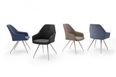MCA furniture 2er Set Stuhl Madita Ausführung A - mit Kunstlederbezug Argentina, Farbe wählbar und Gestell 4-Fuß oval oder eckig, für Esszimmer und Wohnzimmer - Vorschau 2