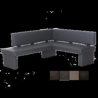 Standard Furniture Eckbank Domino mit kurzem Schenkel rechts Kunstlederbezug Farbe wählbar Massivholzrahmen und Sitzpolster mit Wellenunterfederung