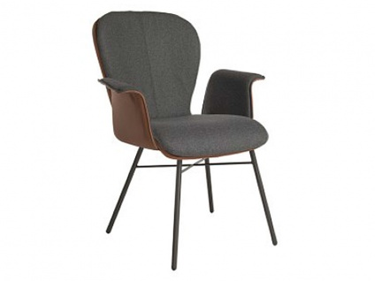 Stuhl 632C Blake Four Komfort von Bert Plantagie mit Bi-Color-Mattenpolsterung für Esszimmer Esszimmerstuhl mit geschlossenen Armlehnen Gestellausführung und Bezug wählbar