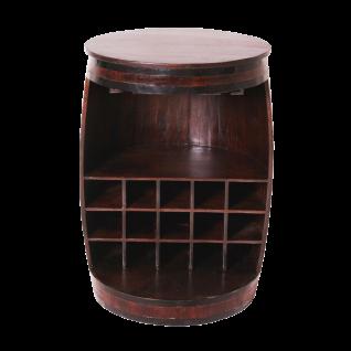 Sit Möbel ALMIRAH Barschrank Fass braun aus recyceltem Holz