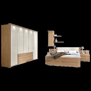 Wiemann Lido Schlafzimmerset mit Bett Dreh-Gleittüren-Funktions-Panoramaschrank und Beimöbeln Farbausführung wählbar