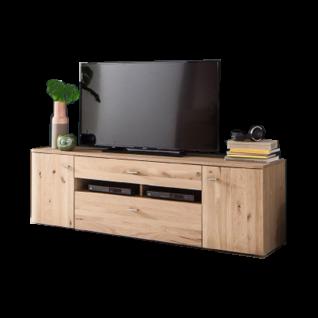 MCA Furniture Buffalo BUF52T32 TV Element für Ihr Wohnzimmer Front Balkeneiche Bianco Korpus Eiche Bianco Melamin Nachbildung