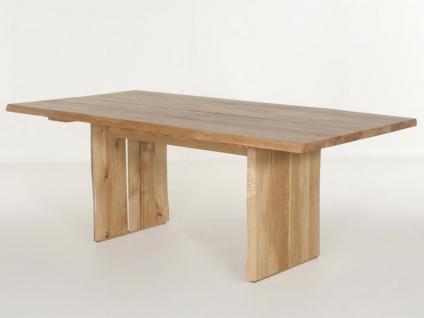 Standard Esstisch Tavoli Holzwangen-Gestell D Tischplatte Baumoptik feste Platte Tisch für Esszimmer Holzausführung und Größe wählbar