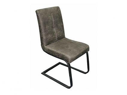 K+W Möbel 6117 schicker Freischwinger Stuhl für Esszimmer in Stoff oder Echtleder wählbar