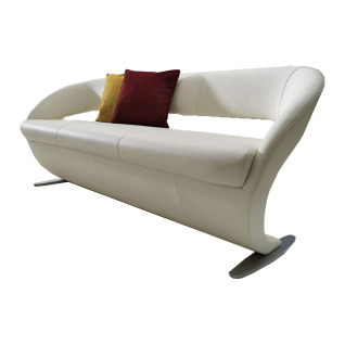 K+W Silaxx Solobank Wave 4130 in einer Vielzahl an wählbaren exklusiven Bezügen in Stoff oder Leder und in zwei verschiedenen Größen sowie mit zwei verschiedenen Füßausführungen verfügbar