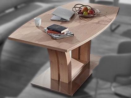 Schösswender Säulentisch Modell P131 Esstisch mit furnierter Tischplatte in Bogenform für Esszimmer mit wählbarer Holzausführung und Größe Esstisch passend zum Programm Rialto
