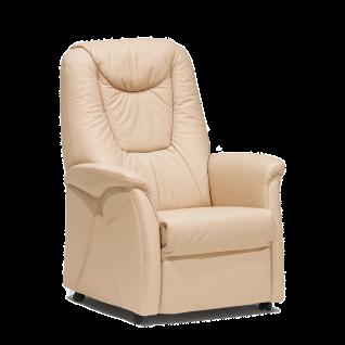 Himolla Relaxsessel 9771 Quartett mit manueller L Basic-Funktion Stoffbezug PG 18 Nuvano by Impala Farbton Sand Sitzhöhe ca. 46 cm mit Rollen