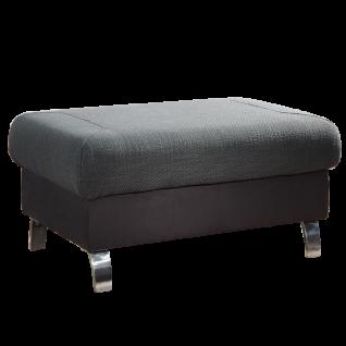 Dietsch Time Plus Hocker mit modernen Metallfüßen individuell konfigurierbar ideal für Ihr Wohnzimmer