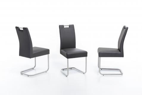 Standard Furniture Schwingstuhl Kathy Komfortsitz mit Griff Polsterstuhl für Wohnzimmer oder Esszimmer Gestell- und Bezugsausführung wählbar