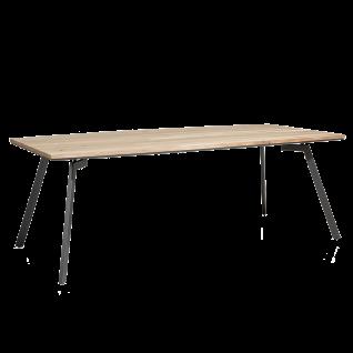 Habufa Turda Esstisch 40781 mit fester Tischplatte ca. 220 x 105 cm Tischplatte Furnier Kikar / Metallgestell graphit