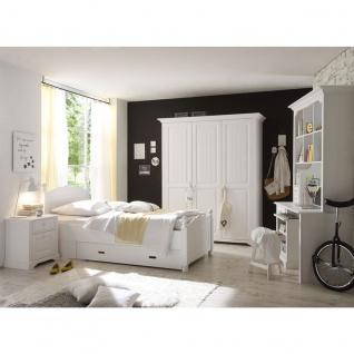Schlafkontor Cinderella Premium Jugendzimmer Kinderzimmer 3-teilig bestehend aus einem Kleiderschrank 3-türig Bett Liegefläche ca. 90x200 cm Schreibtisch optional mit Beimöbel