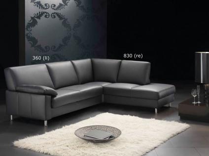 Ewald Schillig Florenz Ecksofa Sofa 3 Sitzer + Anbausofa mit festem Hocker für Wohnzimmer in Stoff oder Leder wählbar