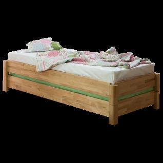 Dico Möbel Stapelbett aus Massivholz inklusive Rollrost Liegefläche und Farbausführung wählbar
