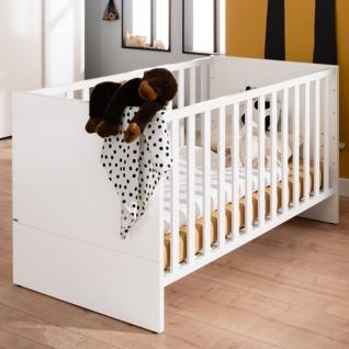 Paidi Fabiana Kinderbett ca. 70x140 cm mit dem Lattenrost Airwell Comfort Ausführung in Glanz weiß