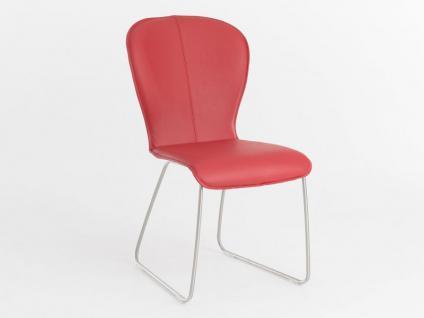 Bert Plantagie Blake Schlitten mit Bi-Color-Polsterung Stuhl 611 für Esszimmer Esszimmerstuhl Gestellausführung und Bezug in Leder oder Stoff wählbar