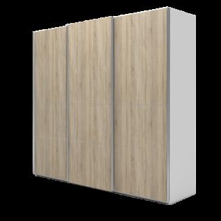 Nolte Möbel Marcato 2.4 Schwebetürenschrank Ausführung 4A mit 4 waagerechten Sprossen Korpus und Front Dekor Farbausführung und Schrankgröße wählbar