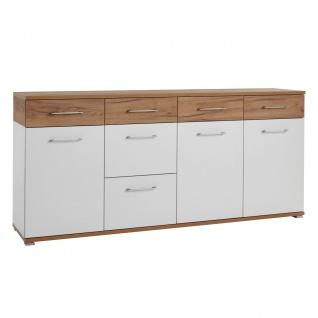 Germania Topix Sideboard 3779-513 im Dekor weiß und Navarra Eiche Nachbildung mit 3 Türen und 6 Schubladen für Garderobe