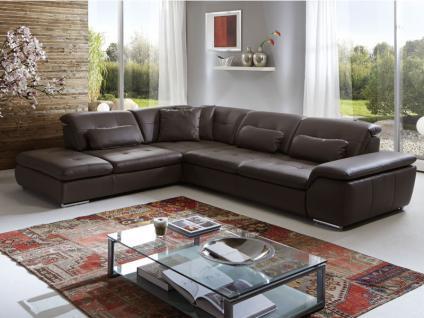 Polinova Eckkombination Imago L 3-Sitzer Spitzecke 1, 5-Sitzer mit Anstellhocker inklusive stufenloser Rückenverstellung in Echtleder Ausführung wählbar Couch spiegelverkehrt lieferbar