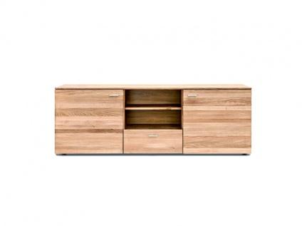 Standard Furniture Kopenhagen Lowboard 4 Massivholz Kernbuche geölt, Eiche natur geölt und Eiche bianco geölt ideal für Ihr Wohnzimmer oder Esszimmer