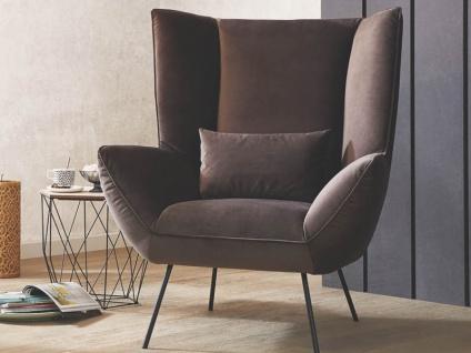 Candy Evy Sessel in 2 verschiedenen Fußausführungen wählbar inklusive 1 Rückenkissen für Ihr Wohnzimmer
