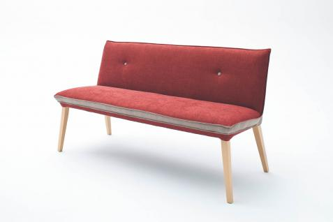 Standard Furniture Polsterbank Genua 1 und Genua 2 mit Rückenlehne für Wohnzimmer oder Esszimmer auch als Küchenbank in zwei Rückenvarianten erhältlich, Größe, Bezug und Gestell wählbar