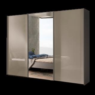 Nolte Möbel Savena / Samia Schwebetürenschrank mit Glasfront und Kristallspiegel Größe und Farbausführung wählbar optional mit Dämpfung