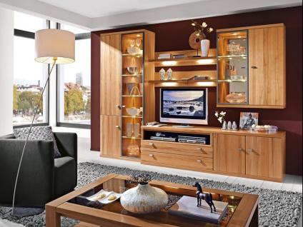 RMW Rietberger Largo Wohnwand Cento 7-teilig Vorschlagskombination V50171 für Wohnzimmer Ausführung Front / Korpus Beleuchtung wählbar