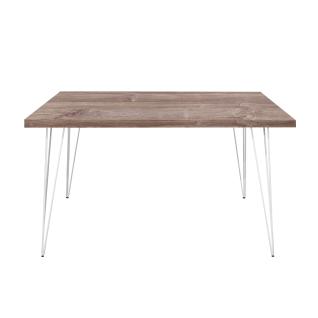 Mäusbacher The Big System Esstisch mit rechteckiger Tischplatte und Matellfüßen-Draht Größe Farbe und Kante wählbar