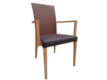 DKK Klose Sessel S44 auch zweifarbig mit Mikrotaschenfederkern im Sitz und Netzspannstoff im Rücken Stuhl für Wohnzimmer und Esszimmer Bezug in vielen Stoffen und Echtleder wählbar