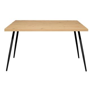 Mäusbacher The Big System Esstisch mit rechteckiger Tischplatte und runden Matellfüßen Größe Farbe und Kante wählbar