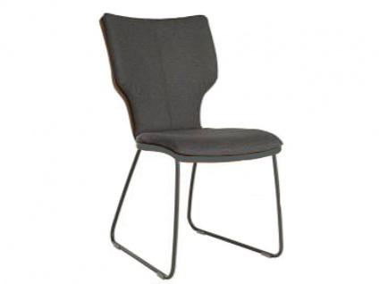 Bert Plantagie Joni Stuhl 711C Komfort Schlittengestell Uni-Mattenpolsterung Polsterstuhl für Esszimmer Esszimmerstuhl Gestellausführung und Bezug in Leder oder Stoff wählbar