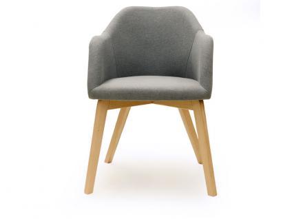 Standard Furniture Sesselsystem Theo Sessel mit Spider-Fuß-Gestell in Holz moderner Polsterstuhl für Esszimmer oder Wohnzimmer Bezug und Gestell wählbar