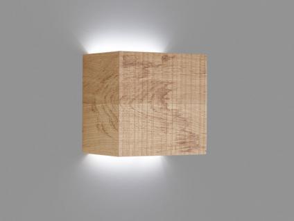 Hartmann Naturstücke Wand-Leuchte 1064 mit Holzkubus Lampe für Wohnzimmer oder Esszimmer in zwei Holzarten wählbar