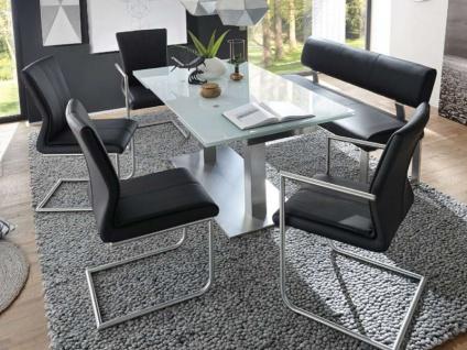 MWA Aktuell Stuhlsystem Como in Kunstleder oder Echtleder Polsterstuhl für Esszimmer oder Küche Bezug Gestell und Sitzschale wählbar