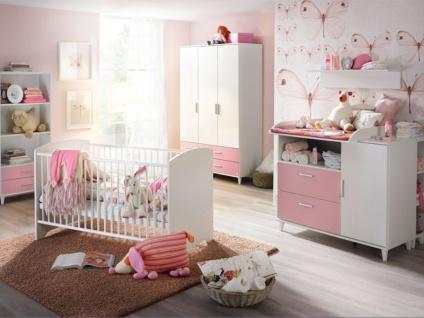 Rauch Packs Aik-Extra 3-teiliges Babyzimmer mit Drehtürenschrank Babybett und Wickelkommode Farbe wählbar optional mit Wandbord und Regalelementen