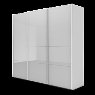 Nolte Möbel Marcato 2.4 Schwebetürenschrank Ausführung 4A mit 4 waagerechten Sprossen Korpus in Dekor mit Glasfront Farbausführung und Schrankgröße wählbar