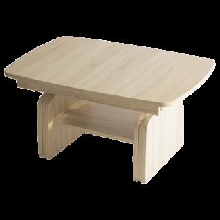 Stralsunder Couchtisch XH1.100 höhenverstellbar und ausziehbar in verschiedenen Dekoren wählbar mit Ablageplatte Tisch für Wohnzimmer