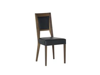 DKK Klose Polsterstuhl S15 für Wohnzimmer oder Küche Holzfarbton wählbar Sitz und Rücken gepolstert in modischen Stoffbezügen