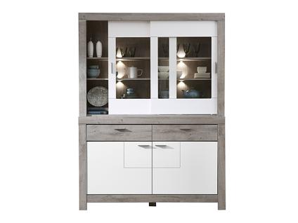Wohn-Concept Granada Kombination 84 für Ihr Esszimmer oder Wohnzimmer bestehend aus einem Sideboard und Buffet-Aufsatz Speise-Kombination inkl. LED-Beleuchtung Ausführung wählbar - Vorschau 3