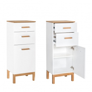 W.Schildmeyer Möbel Capri Badmöbel Set 4-tlg. für Badezimmer mit Spiegelschrank Highboard Hochschrank und Waschbeckenunterschrank - Vorschau 4
