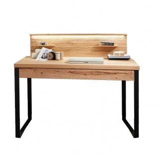 Hartmann Talis Sekretär 4122 aus Massivholz Riffbuche Kufengestell aus Baustahl Schubkasten Schreibtisch Tischplatte verschiebbar Beleuchtung optional