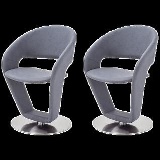 2er-Set MCA furniture FIEG19_ Firona drehbarere Stühle Bezug Kunstleder Argentina für Ihr Esszimmer und Wohnzimmer
