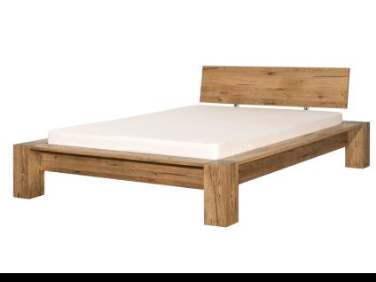 Neue Modular Punto Morten Bett aus Massivholz Sumpfeiche natur geölt inklusive Längstraverse Liegefläche ca. 180x200 cm