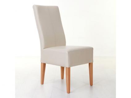 Standard Furniture Polsterstuhl Tommy mit farblich abgesetzten Kontrastnähten Polsterstuhl für Wohnzimmer oder Esszimmer Gestellausführung und Bezug wählbar