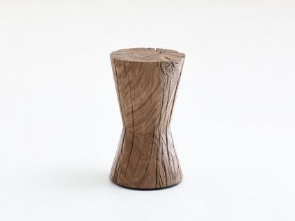 Hartmann Naturstücke Beistelltisch Kegel 1012 in Riffbuche oder Riffeiche Massivholz gebürstet Tisch für Wohnzimmer Esszimmer oder Garderobe in zwei Holzausführungen wählbar