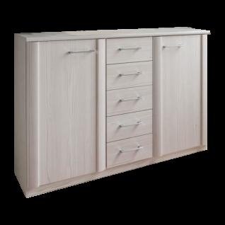Wiemann Luxor 3 & 4 Schlafzimmer Kombikommode mittig 5 Schubkästen 2 Türen außen Farbausführung wählbar