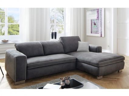 Candy Lakewood Wohnlandschaft Sofa Polstergarnitur 2, 5-Sitzer und Ottomane Couch spiegelbildlich lieferbar für Wohnzimmer Sofa in Bezug Stoff oder Leder wählbar