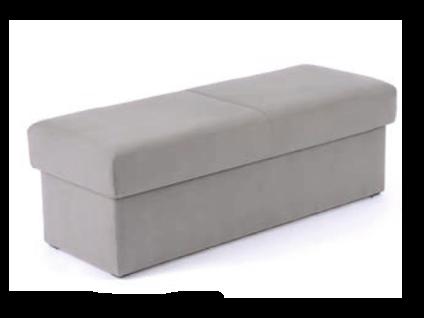 Oschmann Belcanto Beimöbel Bettbank Nr. 1 aufklappbar mit Stauraum für Ihr Schlafzimmer mit Stoff bezogen Stoffgruppe wählbar