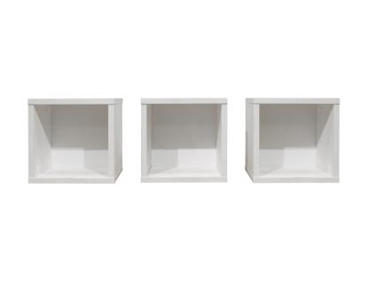Mäusbacher Hängeregale 0478_30-3er passend zu Programmen KIMI und NEW YORK für Babyzimmer oder Kinderzimmer Hängeregal im 3er-Set im Dekor Anderson pine / weiß matt